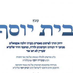 קובץ בית יוסף - המהדורה הדיגיטאלית